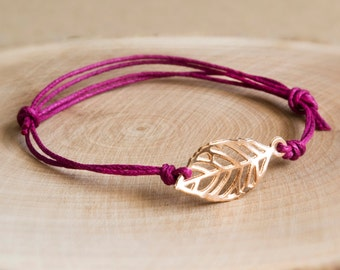 Spring bracelet purple/gold