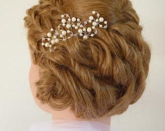 Pearl Bridal Hair Pins, Crystal Bridal Hair Pins, Wedding Hair Accessories, Pearl Crystal Wedding Hair Pins, Formal Hair Clips,