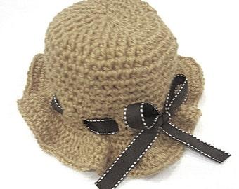 Crochet PATTERN - Tiny Sunbeams Baby Sunhat **Crochet Pattern**