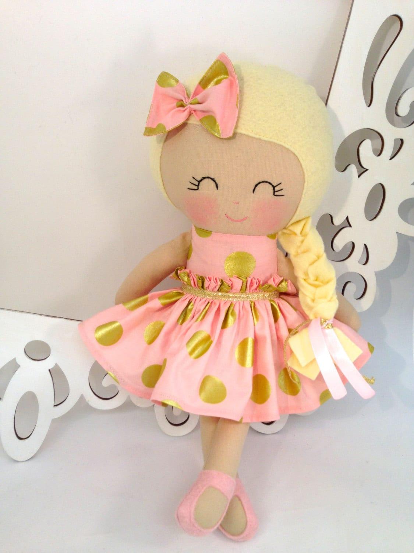 Cloth Baby Doll Handmade Dolls Fabric Dolls Soft Doll