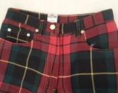 Moschino Five Pockets jeans style Yarn Dye Plaid pants