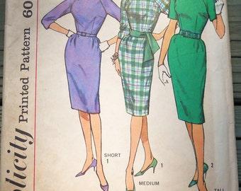Vintage Simplicity 1960's Dress Pattern 4051