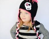Crochet Skull Mohawk Punk Rock Hat For Babies and Kids