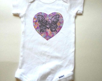 Butterfly Baby Onesie for newborn, 6 months, 12 months, 18 month baby girls