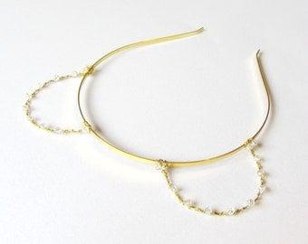 Gold Crystal Bear Ears Headband, Wire Teddy Bear Ears With Swarovski Elements, Costume Ears, Novelty Photo Prop, Kawaii Alice Band,