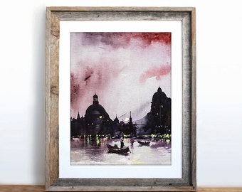 Venice,Italy,cityscape, Original acrylic painting, free shippng