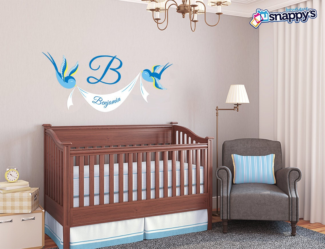Wall decals stickers snappys boutique nursery sparrow wall decal amipublicfo Images