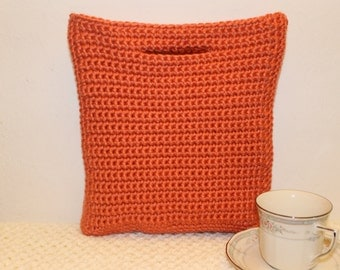 Women's Crochet Purse, Coral Fall Purse, Crochet Tote, Gift for Her, Crochet Hand Bag, Crochet Clutch, Gift For Mom