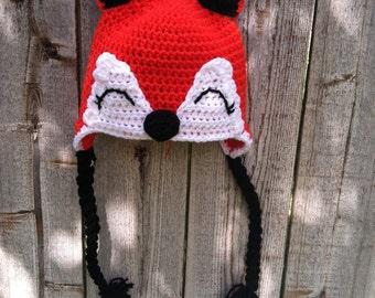 Woodland Fox Earflap Beanie