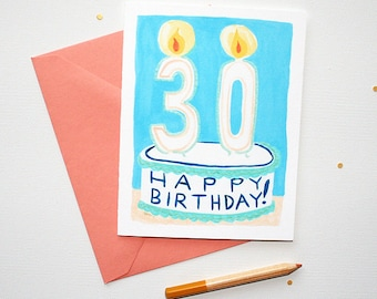 30th Birthday Card, Birthday Cards, Happy Birthday Card, Birthday Card Friend, Birthday Card, Greeting Card, Card Birthday