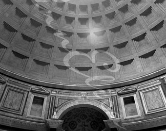 The Pantheon Rome, Italy Black and White Photograph
