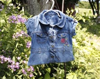 Denim Clothespin Bag