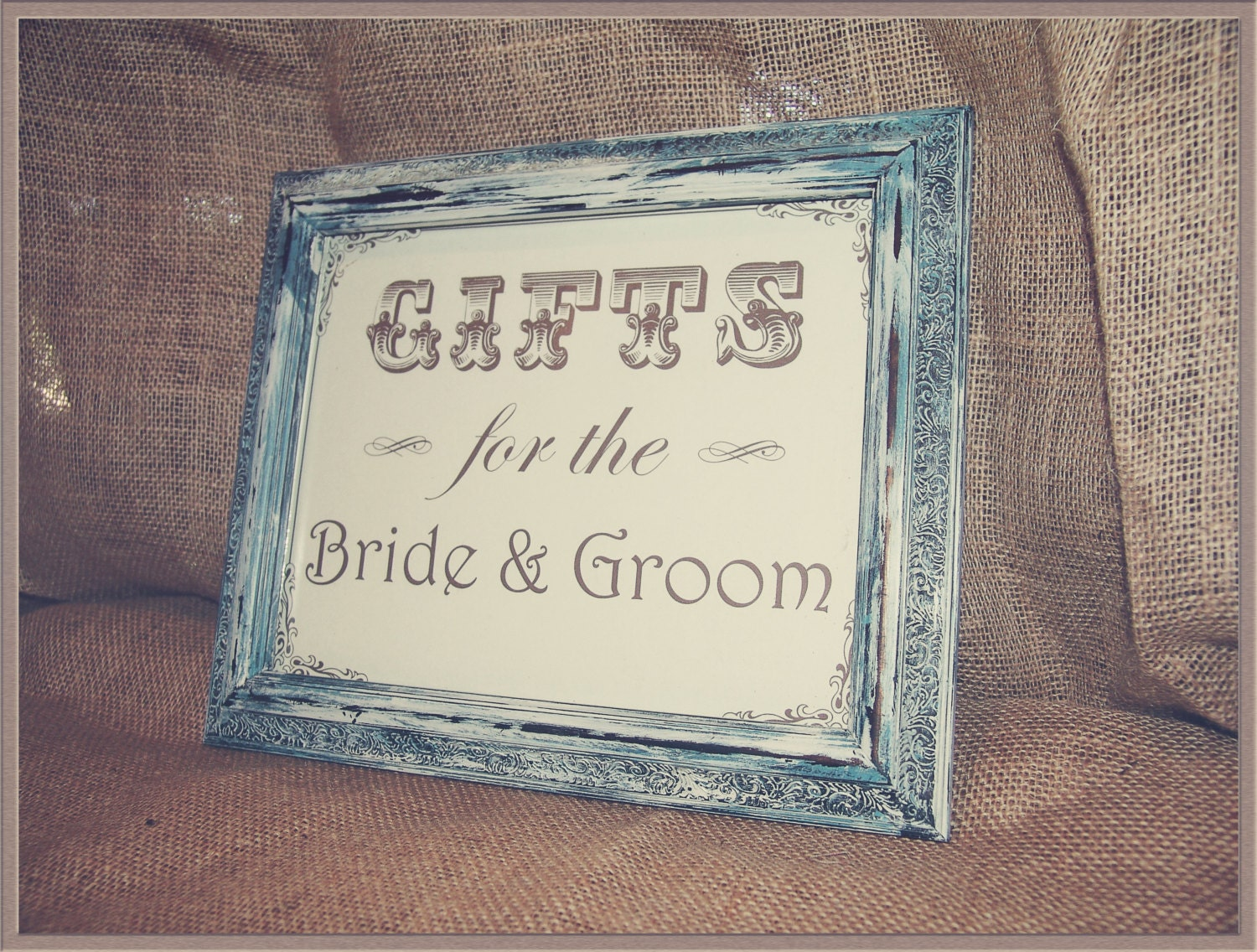 Gifts for the Bride and Groom Sign,distressed frame,framed wedding ...