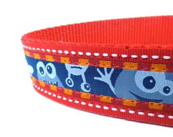 Little Monsters Dog Collar/ Dog Collar/ ribbon dog collar/ adjustable dog collar