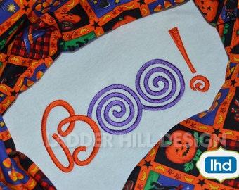 Halloween Ghost BOO Embroidery Design HA012