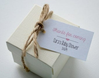 20 Label Favor Tags - Small Custom Gift Tags, Hang Tags, Favor Tags - Baby Shower, Bridal Shower