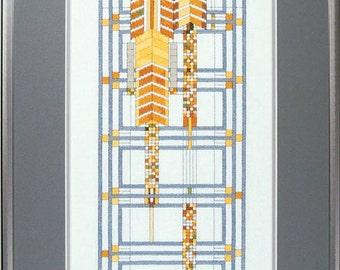 Frank Lloyd Wright Fountain Window Cross Stitch Kit