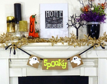 Fall Decorations Happy Halloween Banner Halloween Decoration- Trick Or Treat Garland- Party Photo Props - Sign