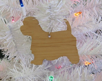 "West Highland White Terrier ""Westie"" Ornament in Wood or Mirror Acrylic Customizable with Name"