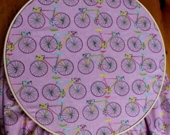 Purple Crib Sheet - Bicycle Baby Bedding - Fixie Baby - Lavender Baby - Fitted Crib Sheet - Bike Baby Bedding - Purple Toddler Sheet