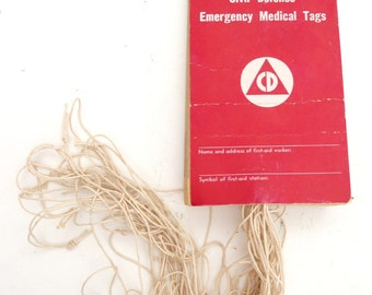 Rare Original WWII Civil Defense Triage Medical Tags - A Unique and Interesting Piece of History