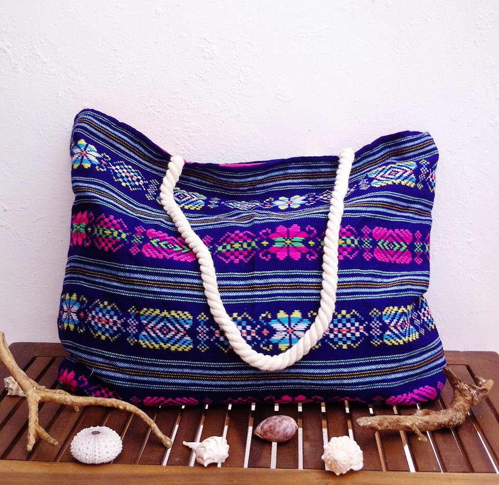 Boho tote embroidered bag mexican embroidery designs