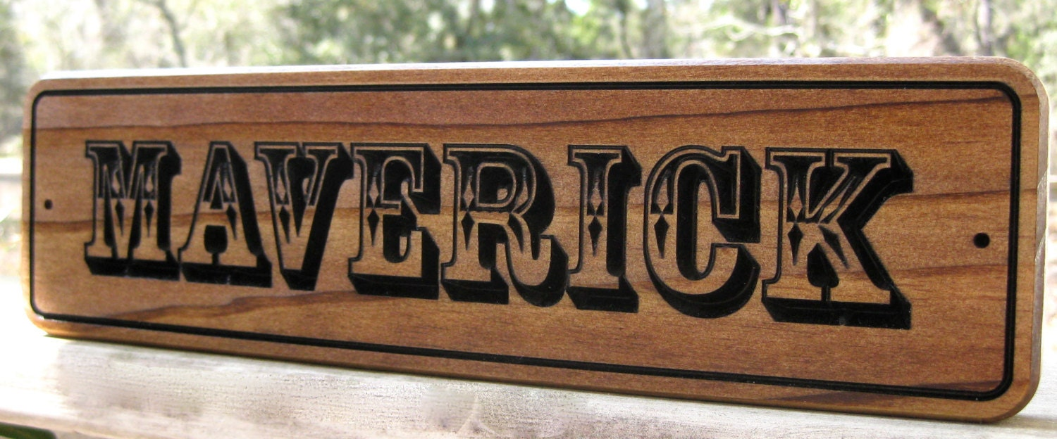 Personalized Horse Name Plate Stall Sign 3 Tall Wood