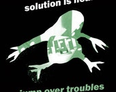 "Kurovskiy ""Solution is near. Jump over troubles"" 2009 art magnet"
