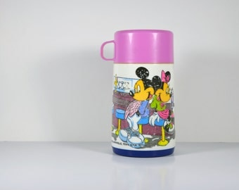 Vintage Disney Mickey and Minnie Mouse Aladdin Thermos