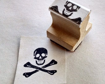 "Stamp - Jolly Roger, .75""x.75"""
