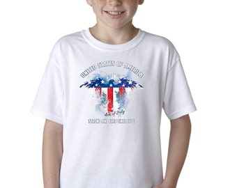 Fourth of July Independence Day T-Shirt for Kids