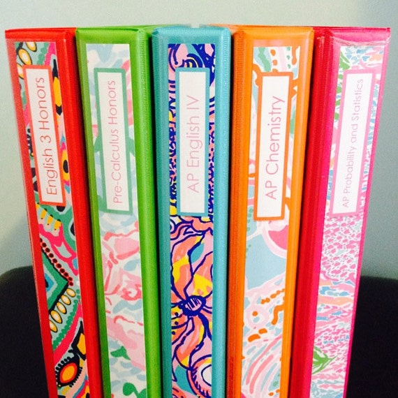 Items Similar To Set Of Five Personalized Lilly Pulitzer