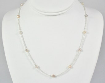 Mini Pearl Station Necklace