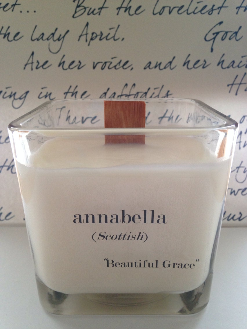 Name Meaning Personalized Candle I Research Your Name And