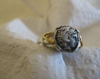 Roman Anchor Nautical Ring