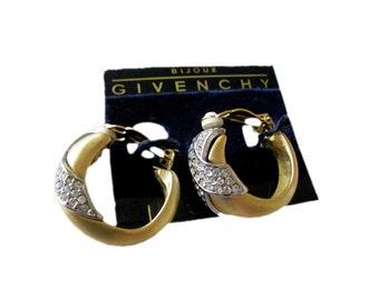 Givenchy Bijoux Rhinestone Earrings / Designer Jewelry / Costume Jewelry