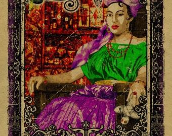 New Orleans Voodoo Queen Marie Laveau. 12x18. Kraft paper. American Horror Story Coven. Art. Print