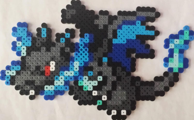 Pixel Art Pokemon Dracaufeu X