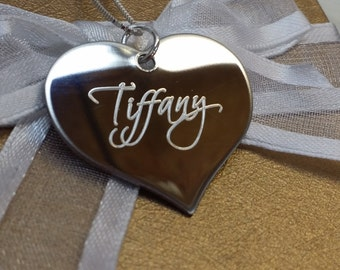 Custom Engraved Heart Personalized Name Necklace
