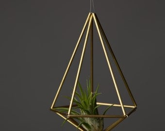 Himmeli Figure 2 || The Penta Planter || Modern Minimalist Geometric Hanging Ornament, Mobile, and Air Plant Holder