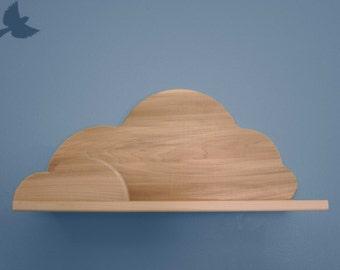 Large Unfinished Cloud Shelf Wall Book Shelf Wood