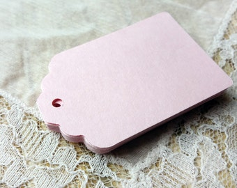 Tags LIGHT PINK Hang Tags,25 Wedding Favor Tags, Gift Tags,Thank you tags Die cuts Scrapbook 2.25x1.5 in, cardstock
