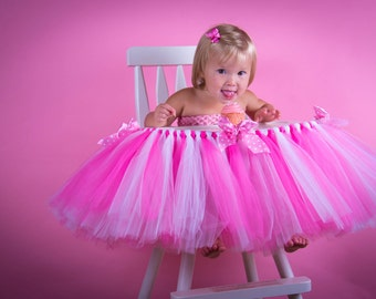 High Chair Tutu - Great For 1st Birthday Parties