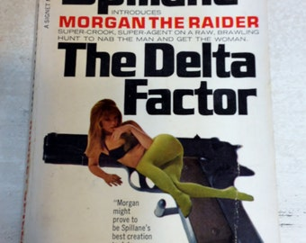 The Delta Factor by Mickey Spillane , 1960's Pulp Fiction, Vintage Thriller