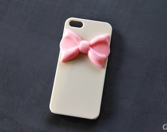 Pink Ribbon iPhone 5 Case iPhone 5s Cover iPhone 6s iPhone 7 Plus Case Girly iPhone 7 Case Beige iPhone Case Girly iPhone Case iPhone 7 Bow