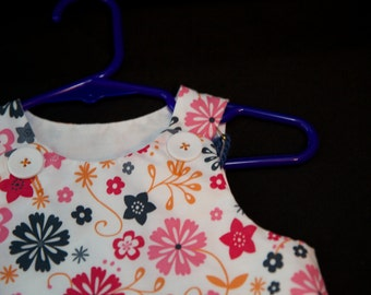 White Floral Dress 3 to 6 month