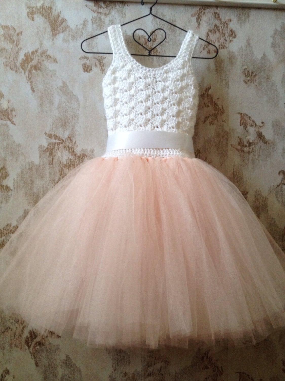 Blush flower girl tutu dress girl s wedding tutu dress by Qt2t