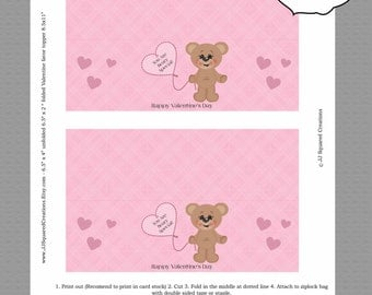 INSTANT DOWNLOAD You are Beary Special teddy bear Valentine favor topper,  Printable File.