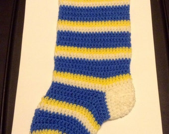 San Diego Chargers Inspired Christmas Stocking (Pattern)