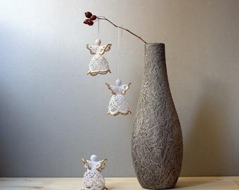 Crochet angel for livingroom decor, romantic and retro italian favors ideas